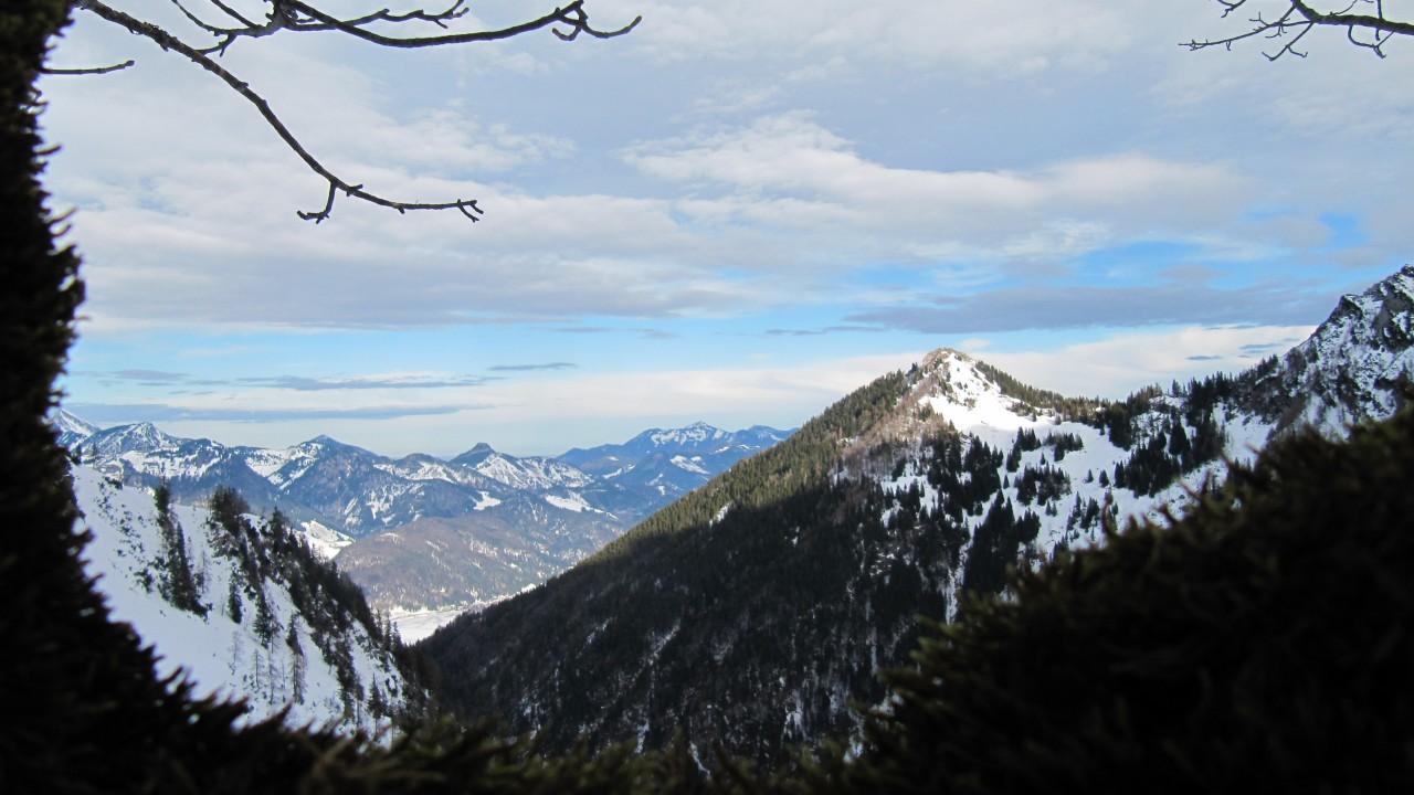 Mountains at the horizon