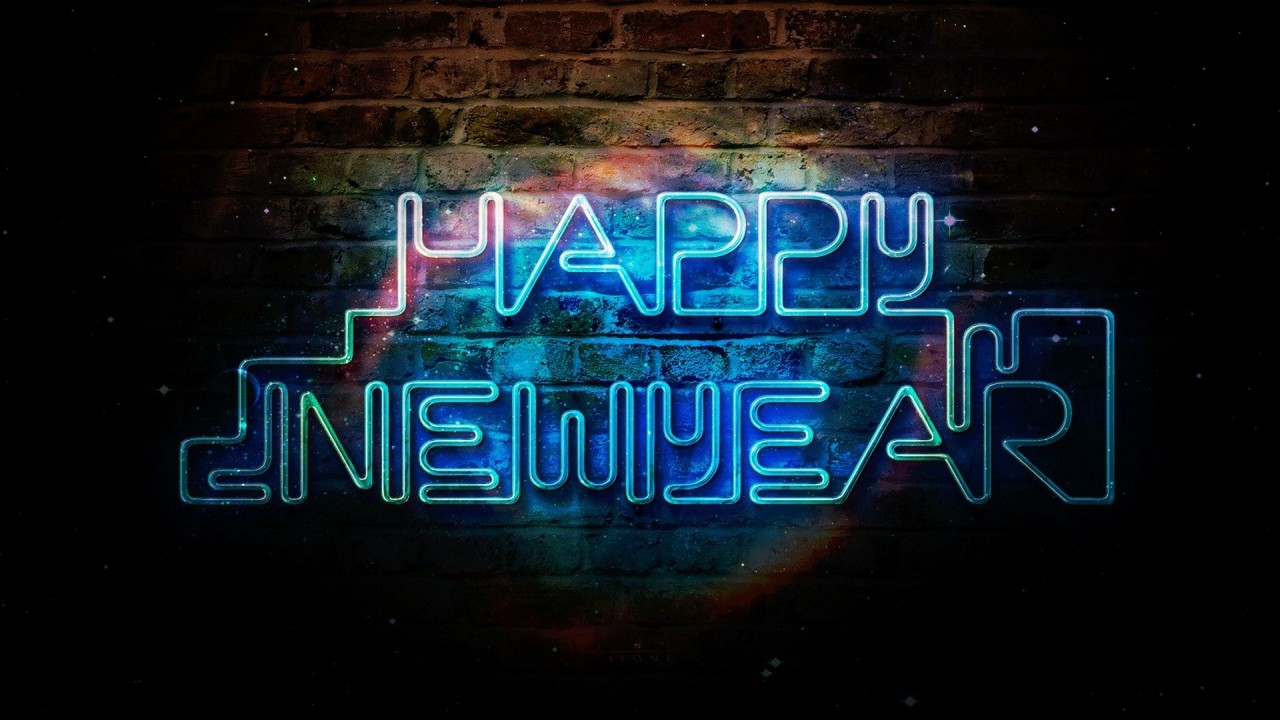 hd wallpaper happy new year picture blue