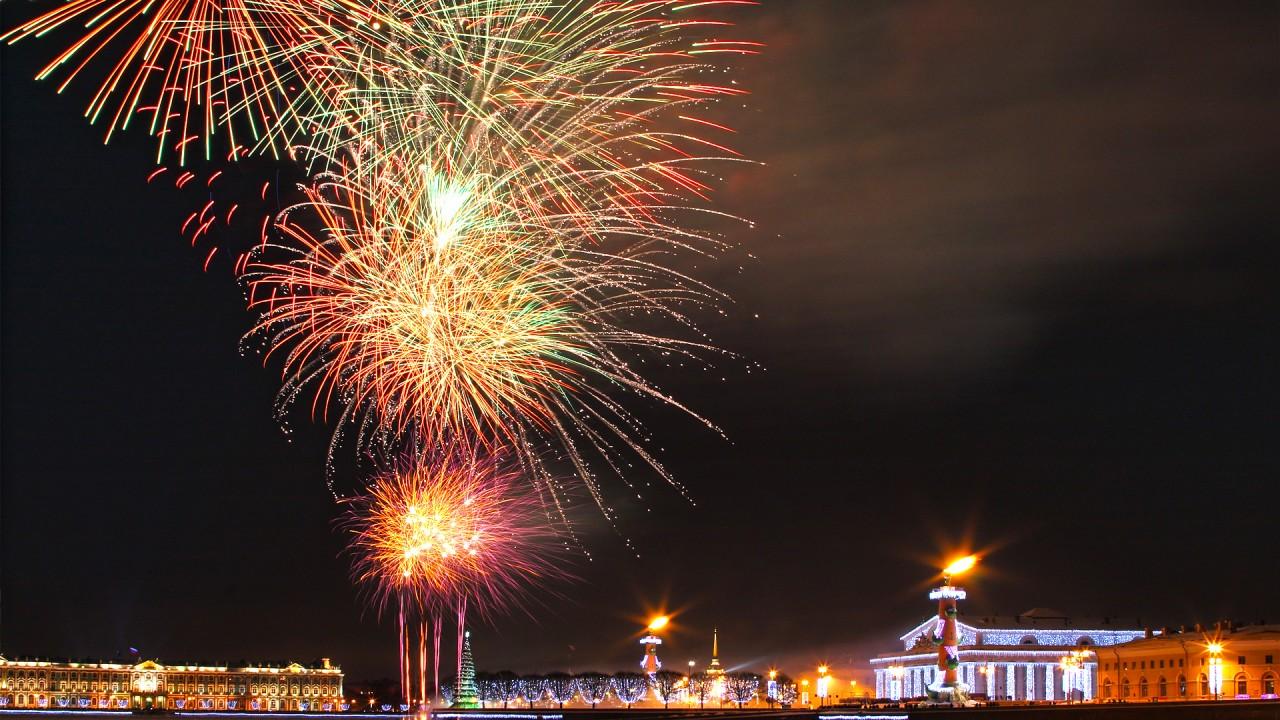 hd wallpaper new year fireworks