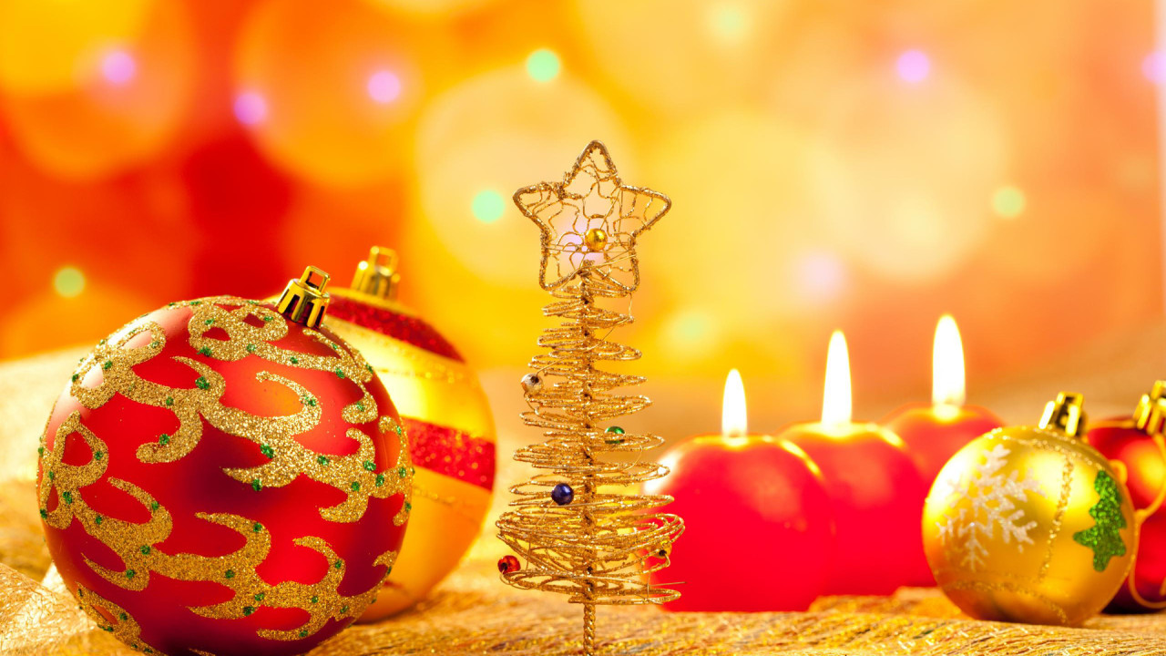 pictures balls holiday christm and happy new year hd wallpaper