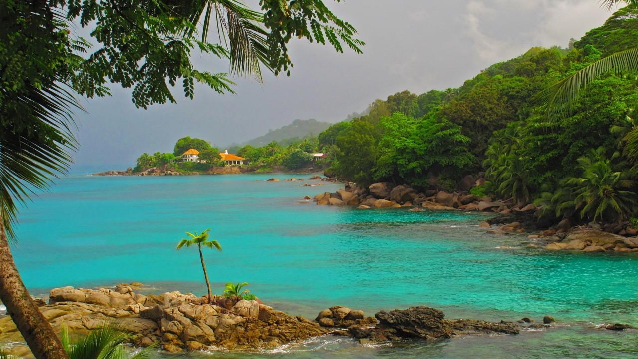 Azure sea water