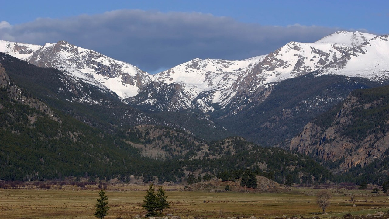 near the mountains