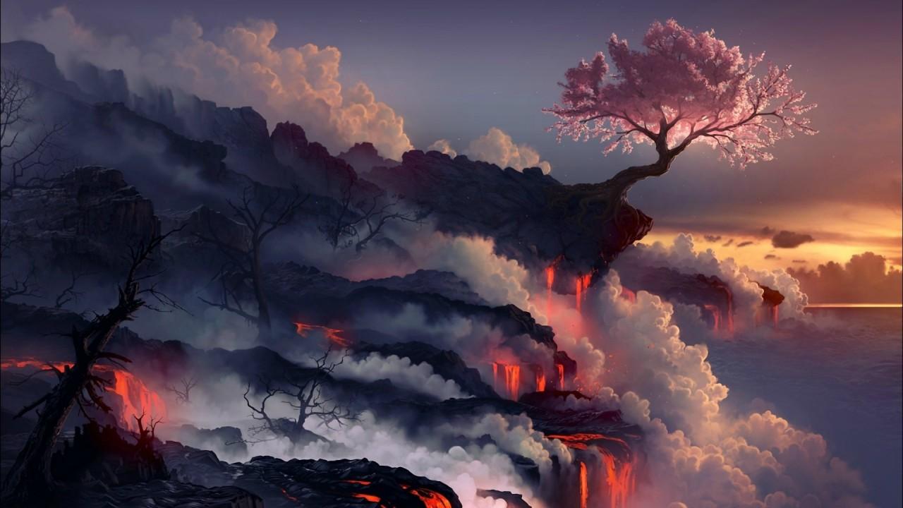 Cherry on a volcano