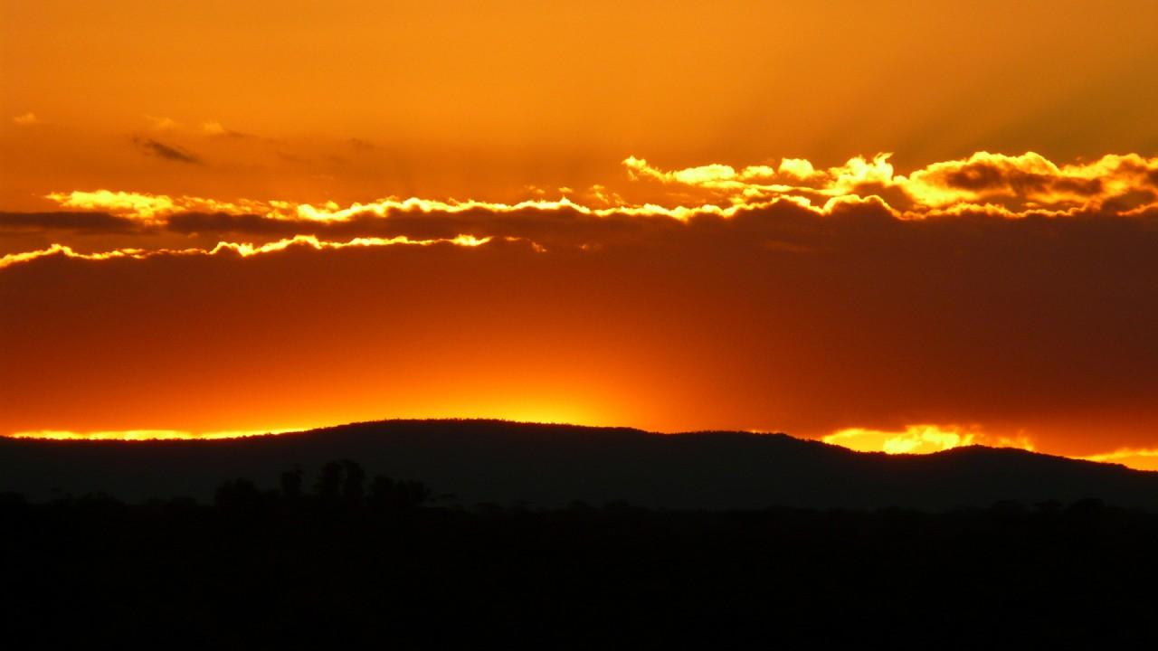 grampian sunset skyline hd wallpaper