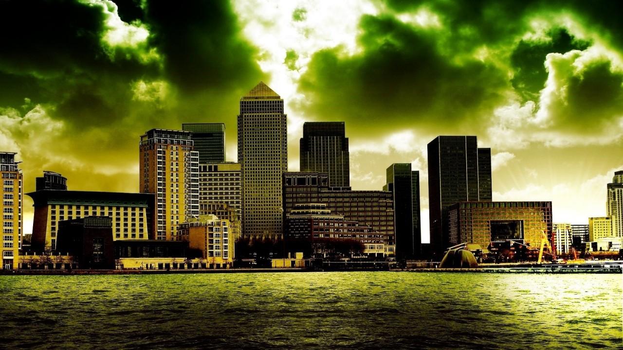 hd wallpaper cloud over city