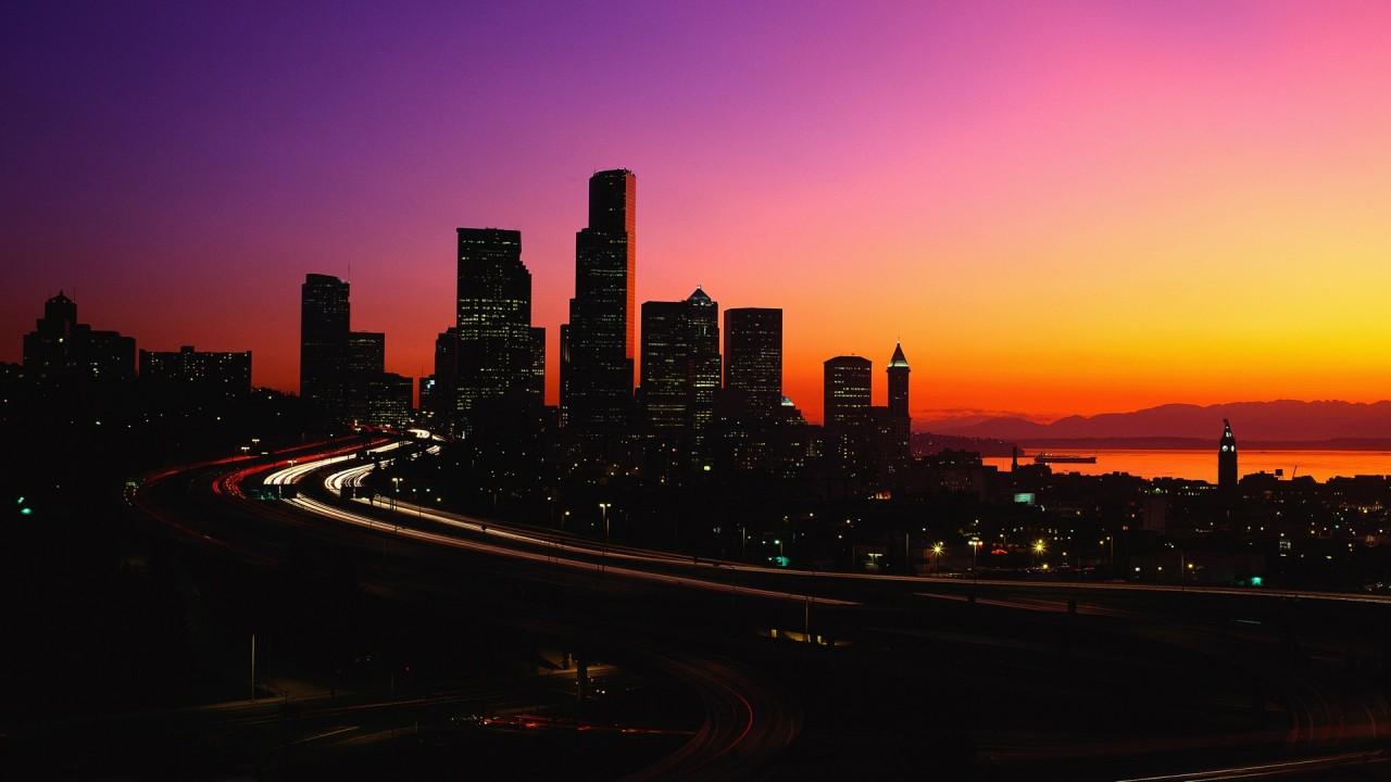 hd wallpaper colorful night city