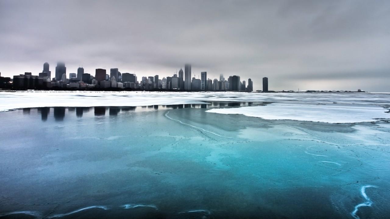 hd wallpaper ice skyline