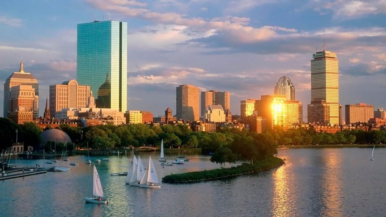 hd wallpaper skyline boston ity