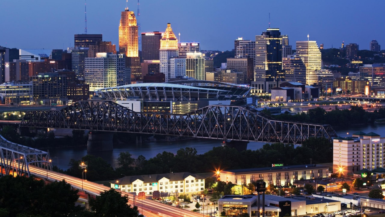 hd wallpaper skyline cincinnati ohio