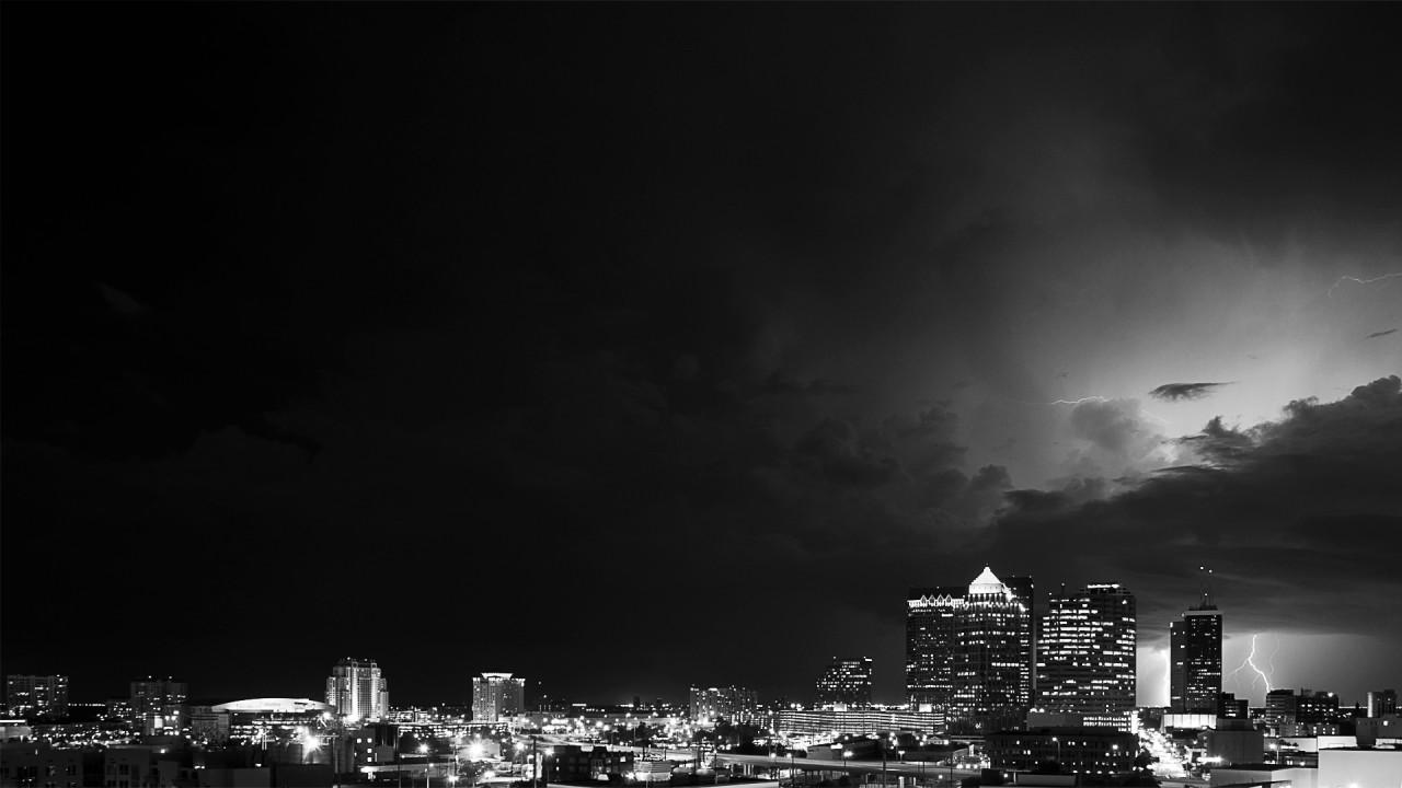 hd wallpaper skyline night