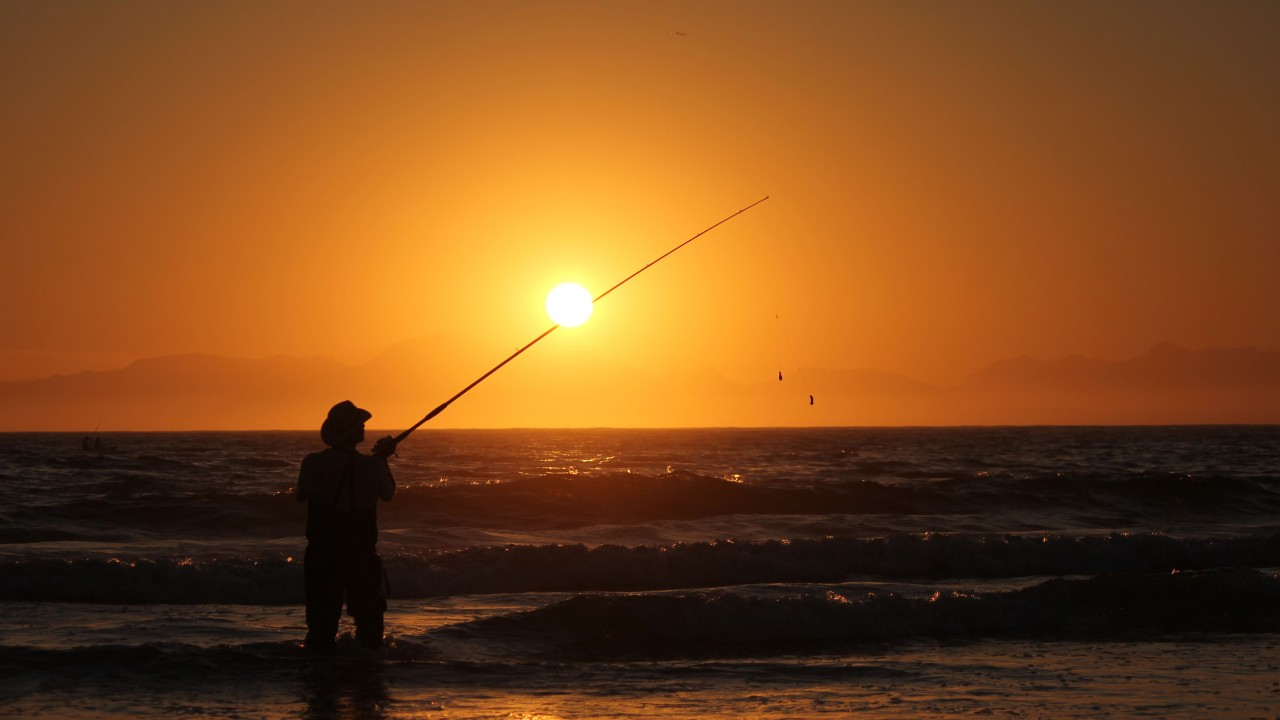 Fishing before sunrise