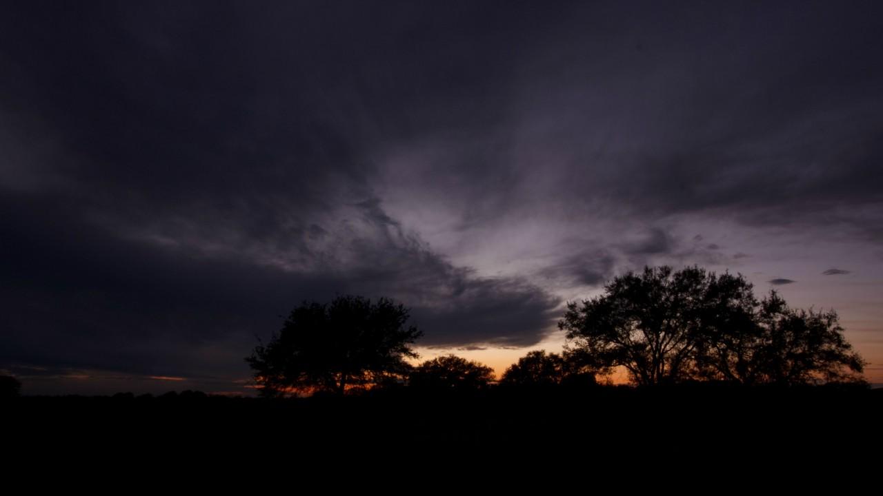 The horizon at sunset
