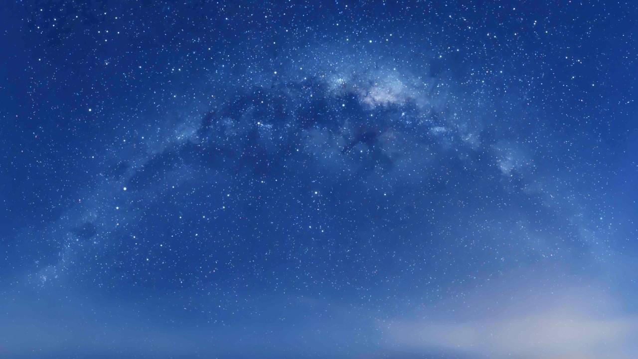 Stars in the dark blue sky