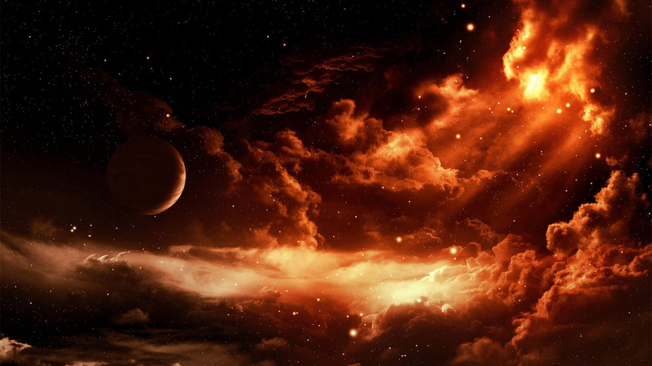 planets stars fantasy hd wallpaper