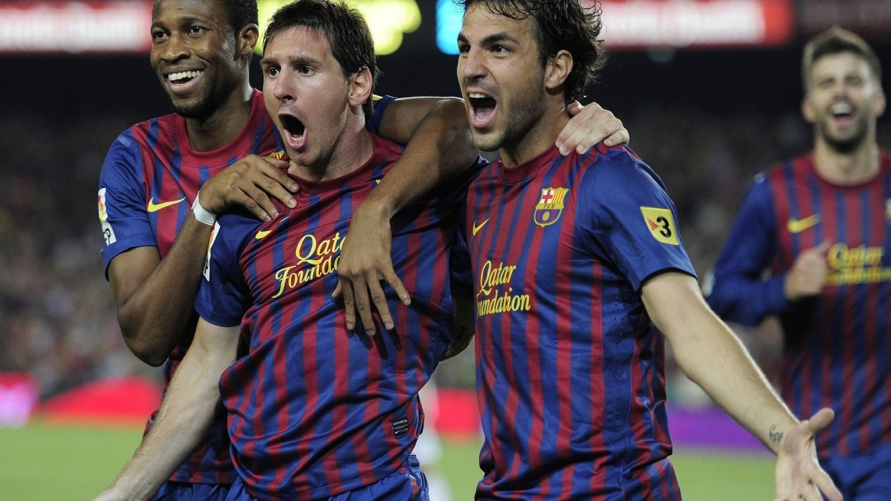 messi fabregas abidal football hd wallpaper