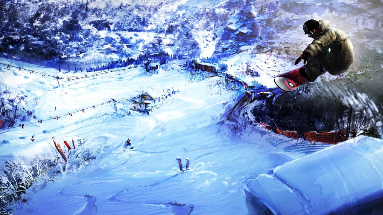 hd wallpaper mountain snowboarding