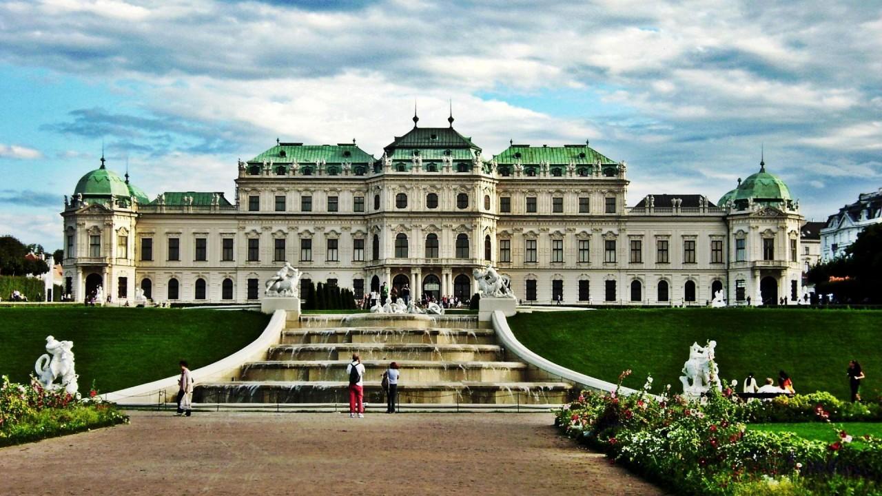 hd wallpaper belvedere palace museum in vienna austria